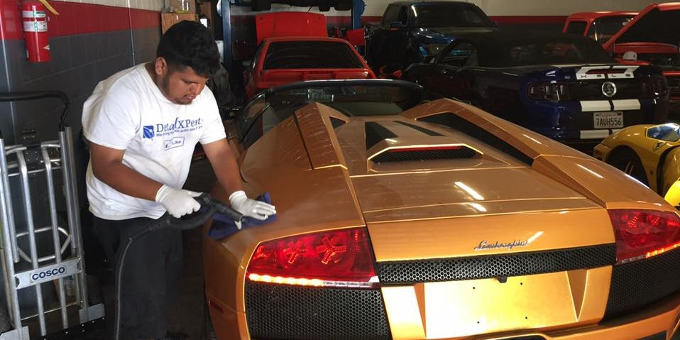 Lamborghini Steam Cleaning