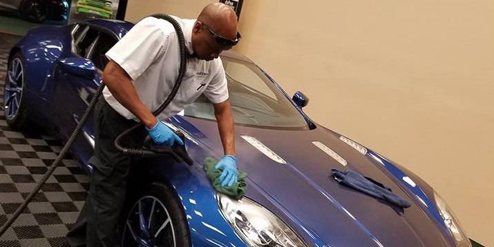 Aston Martin Steam Cleaning