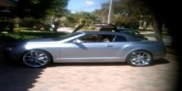 Serving Ryan Howard's Bentley