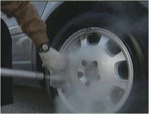 How to steam clean car rims