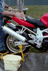 Motorcycle Detailing - Waxing