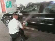 Using steam to clean a car