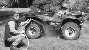 ATV wash - how to remove mud stains