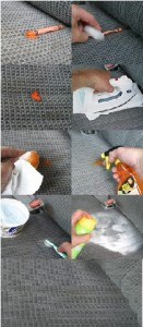 how to remove melted crayon from car seat