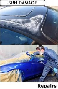 sun damage to car paint