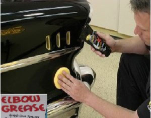 Elbow grease for car wash damage