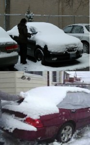 Removimg snow from your car