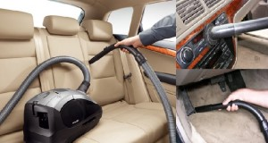 Car cleaning with vacuum