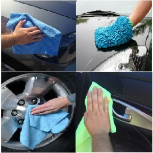 Microfiber cloths for washing cars