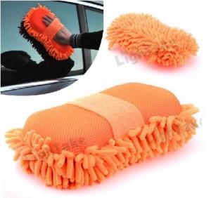 Car wash with microfiber