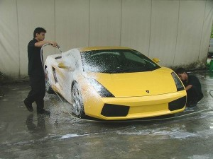 Cleaning of an Affluent car