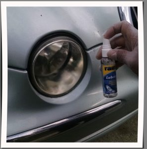 Step 3 How to restore headlights with Rain X