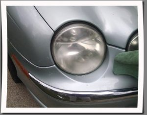 Step 5 How to restore headlights with Rain X