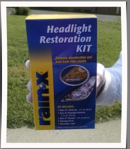 How to restore headlights with Rain X Product