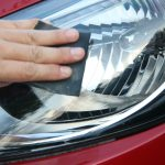 Cleaning Car Headlights Yellowing
