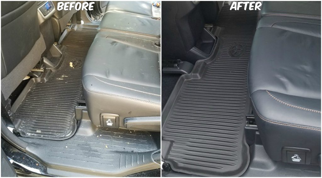 Vacuuming a Car - Before and After